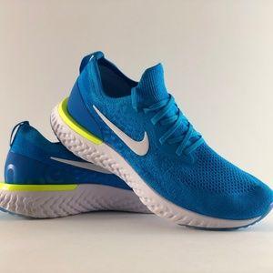Nike Epic React Flyknit 2018 Photo Blue Glow Volt